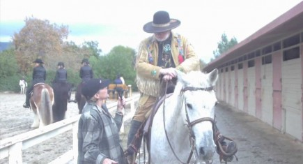 Hollywood Stars Learn Shooting From Cowboy Phil Spangenberger