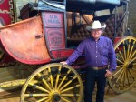 Tom Peterson with 1850 Mud Wagon
